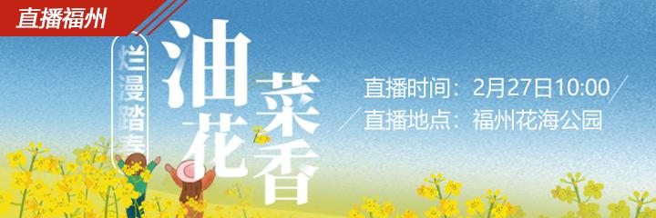 现场直播:浪漫无边!福州市区最大的油菜花地开花啦!