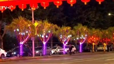 台江元宵灯展:花灯陆续亮灯迎客 记者提前来探班