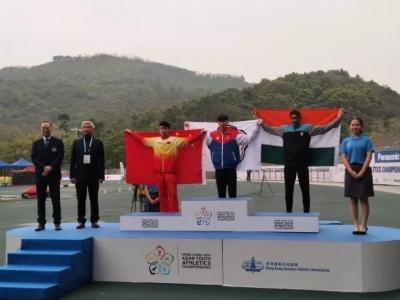 福州又出运动小将!第三届亚洲少年田径锦标赛男子三级跳远决赛中吴军辉荣获亚军!