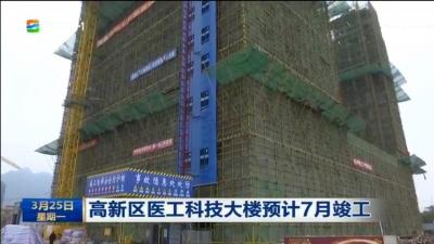 高新区医工科技大楼预计7月竣工