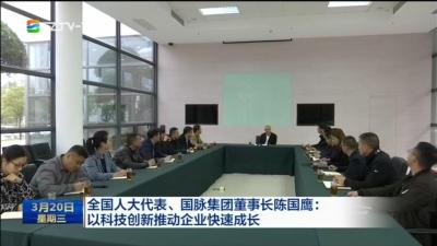 全国人大代表、国脉集团董事长陈国鹰:以科技创新推动企业快速成长