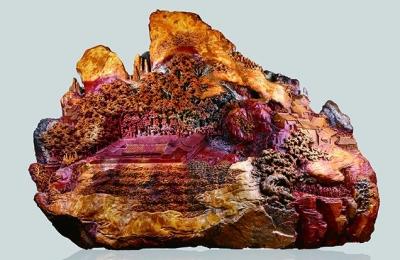 中国工艺美术大师林飞主题创作上吨重寿山石雕《古田会议》首次晋京
