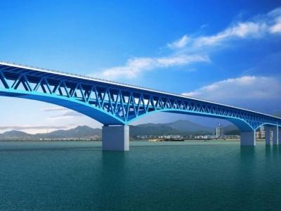 福州首座公轨合建大桥施工又有新进展