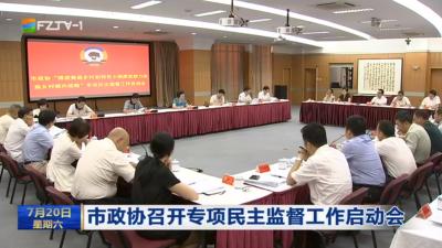市政协召开专项民主监督工作启动会