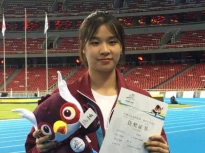 喜讯!福州女孩刘逸雯夺得全国青运会跳高金牌!