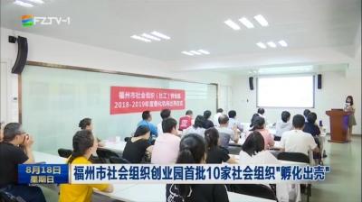 """福州市社会组织创业园首批10家社会组织""""孵化出壳"""""""