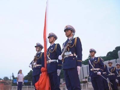 纪念福州解放70周年 五一广场举行升旗仪式