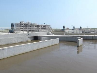 滨海工业区污水处理厂二期通水试运行