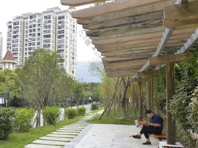 汤斜溪串珠公园月底开放