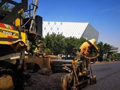 福州城区13个重要路段完成路面提升改造