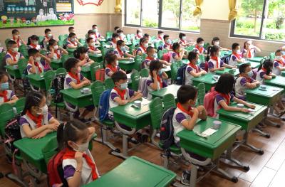 开学集结号!  一二年级学生今日返校复课
