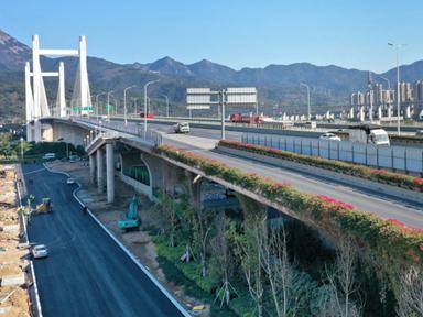 """魁浦大桥辅道2日起开放通行 桥下""""串珠""""4月底亮相"""